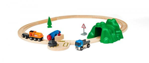 Eisenbahn Starterset Güterzug und Kran Brio 33878 Beispiel