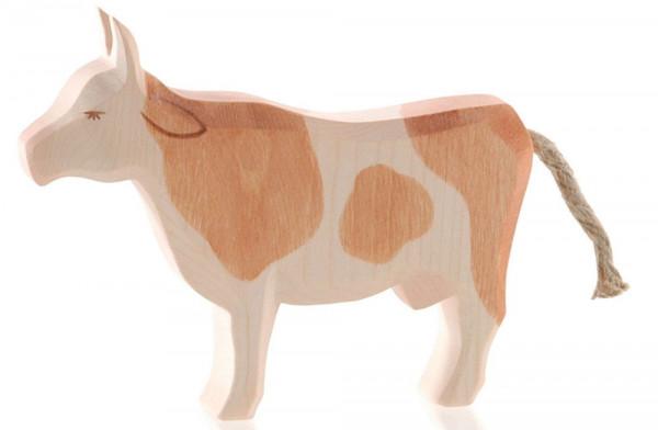 Naturholz Kuh braun stehend Ostheimer