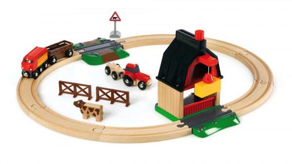 Eisenbahn Set Bauernhof Brio 33719