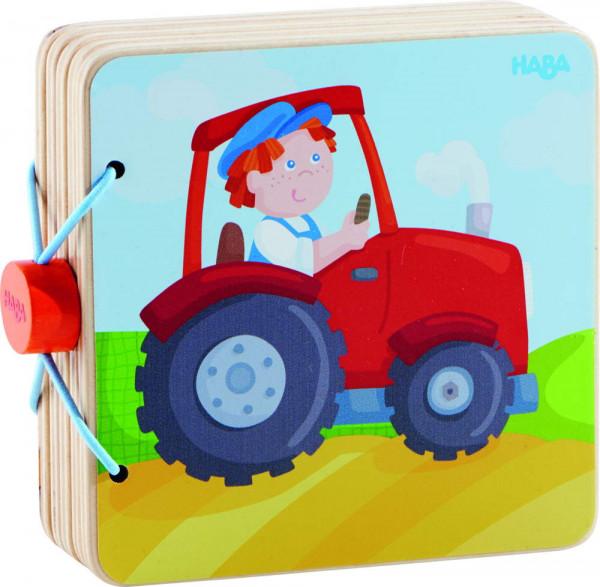 Holz Babybuch Haba Traktor