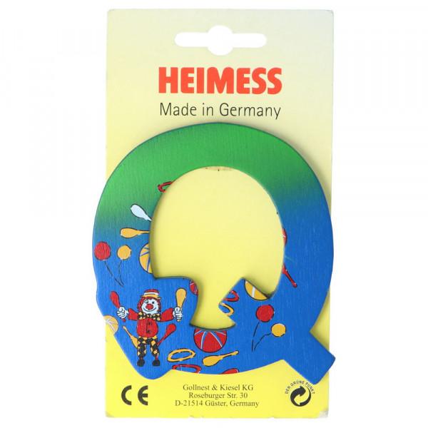 Holzbuchstabe Q Heimess Blau