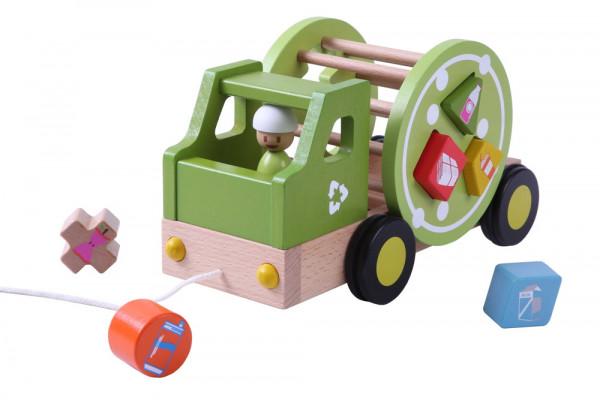 Nachziehspielzeug Recycling Truck EverEarth