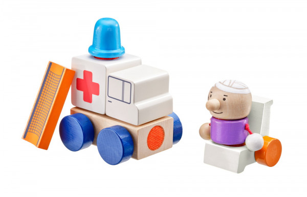Klettini Krankenwagen Stapelspiel Selecta