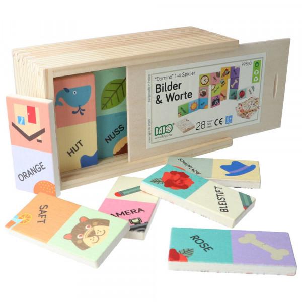 Holz Domino Bilder & Worte Bajo Beispiel