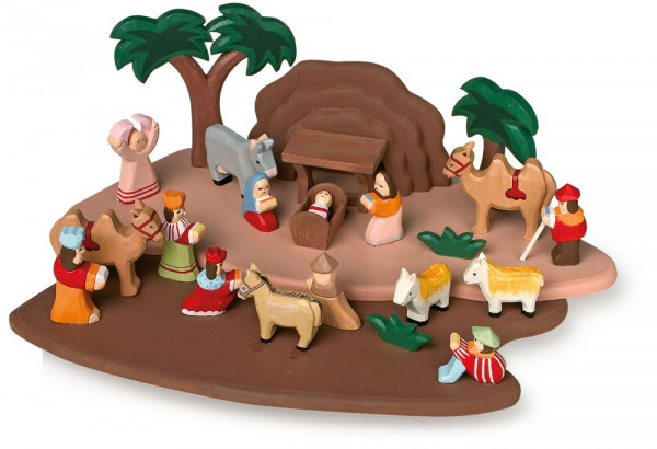 Weihnachtskrippe aus Holz small foot
