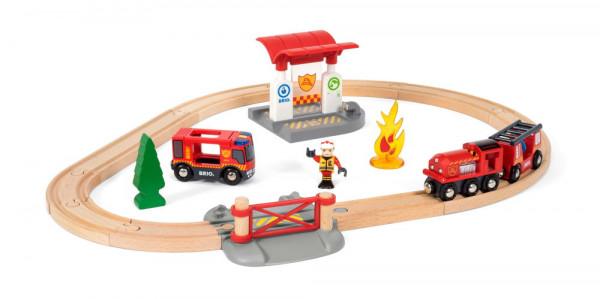 Eisenbahn Set Feuerwehr Brio 33815 Beispiel