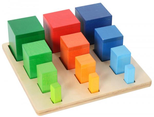 Sortierspiel Farbige Säulen Holz Bartl 104739
