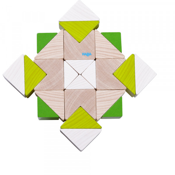 Bausteine Würfelmosaik Nordic 3D-Legespiel Haba Mosaik