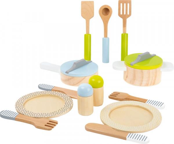 Geschirr- und Topfset aus Holz small foot
