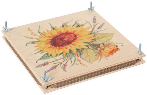 Riesen - Blumenpresse 30 x 30 Bartl Sonnenblume bunt