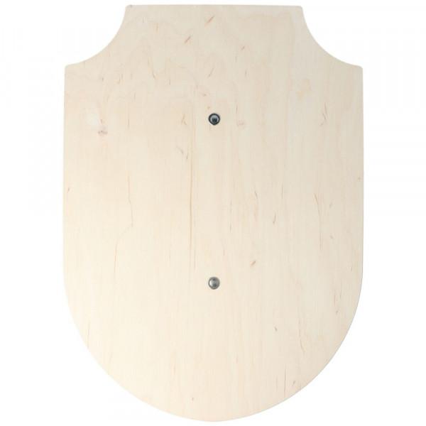 Schild mit Haltegurt Holzkiste