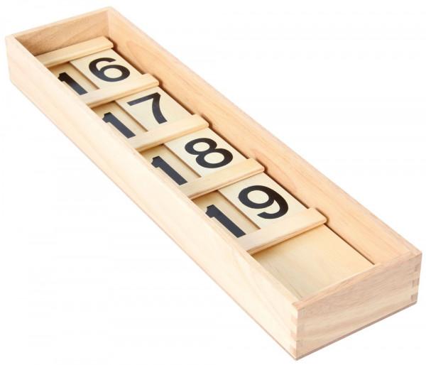 Zahlenbrett 11-19 Seguintafeln I Bartl Box Beispiel