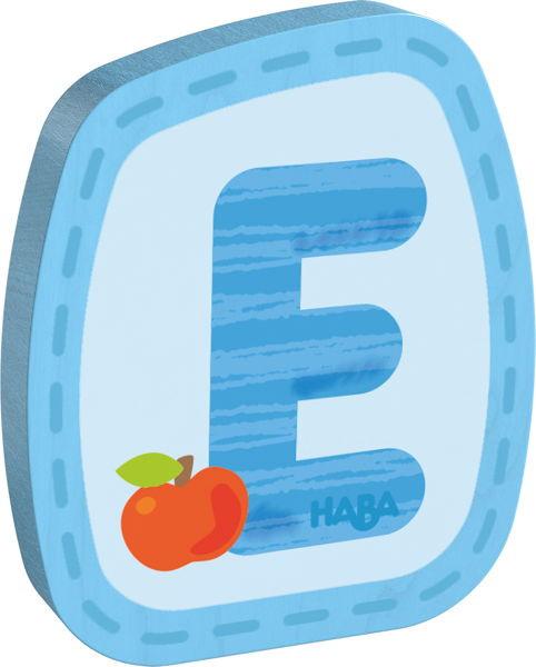 Holzbuchstabe E Haba Blau