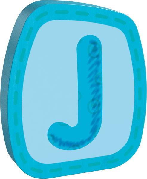 Holzbuchstabe J Haba Blau