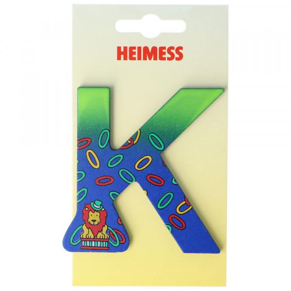 Holzbuchstabe K Heimess Blau Löwe
