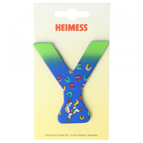 Holzbuchstabe Y Heimess Blau