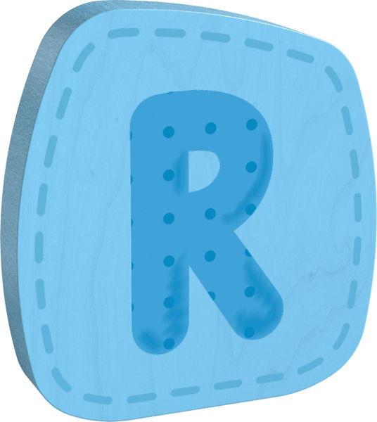 Holzbuchstabe R Haba Blau