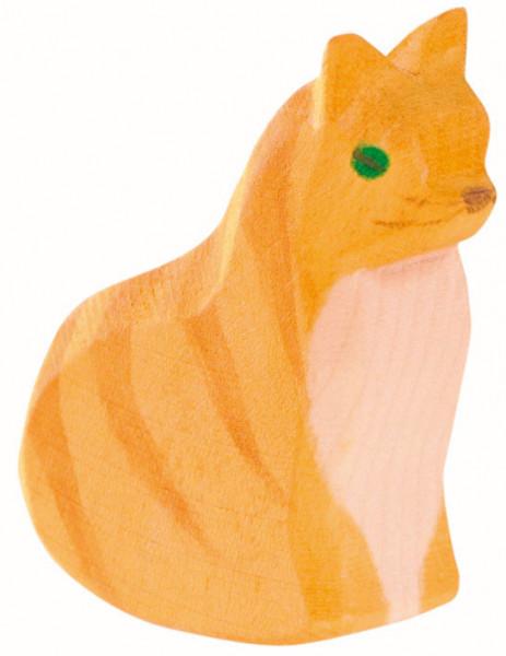 Naturholz Katze sitzend Ostheimer 11401