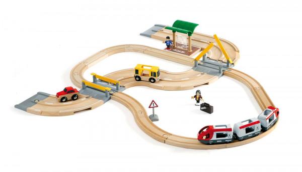 Eisenbahn Set Strassen und Schienen Reisezug Brio 33209