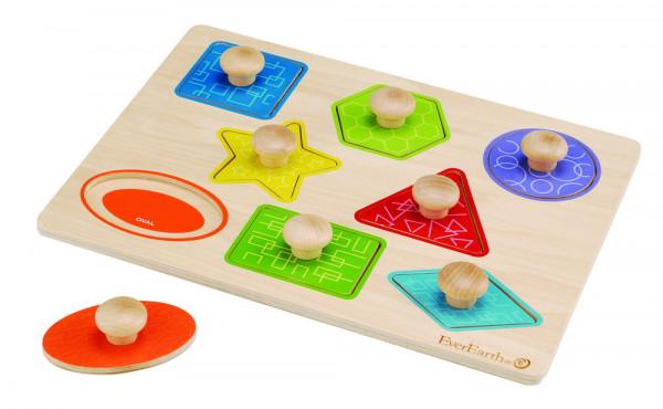 Formen- und Farbenpuzzle Holz EverEarth