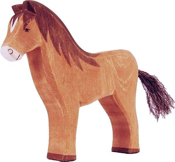Naturholz Pferd braun Ostheimer