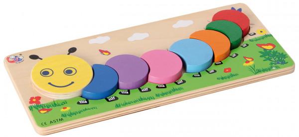 Zurdnungsspiel Fröhliche Raupe GoGo Toys