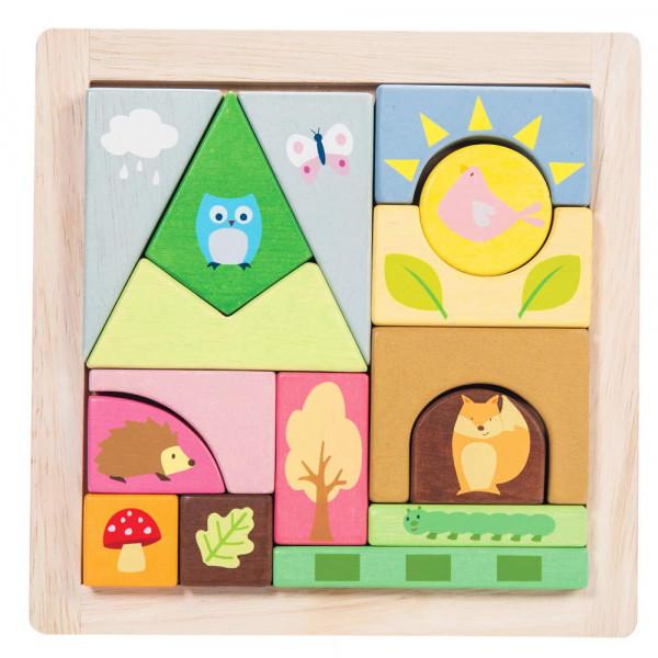 Woodland Puzzle Blocks Petilou by Le Toy Van