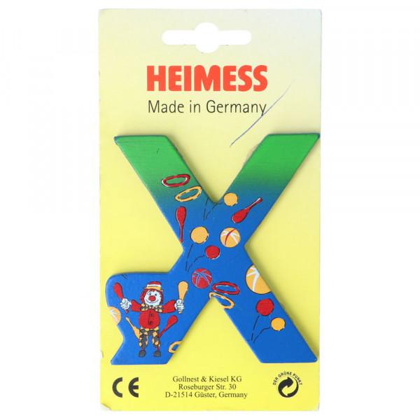 Holzbuchstabe X Heimess Blau