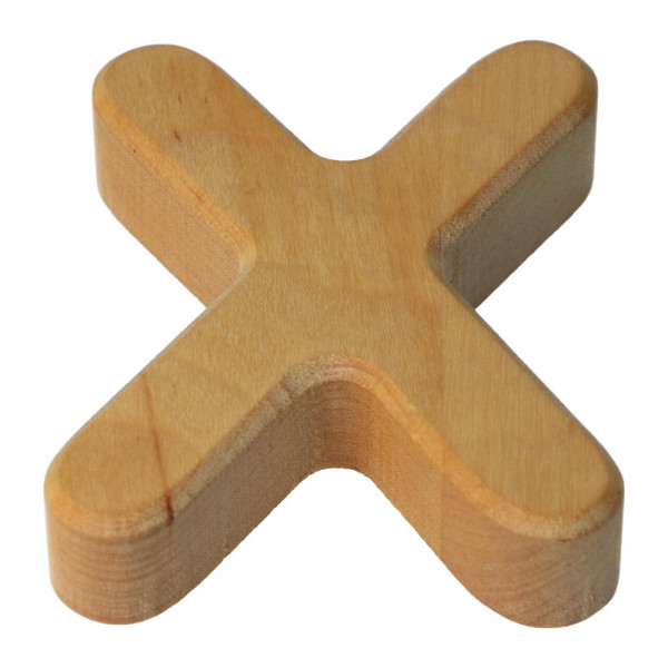 Holzbuchstabe Natur geölt X Bajo