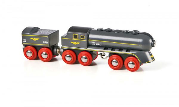 Eisenbahn Schwarzer Kugelblitz mit Kohlentender Brio