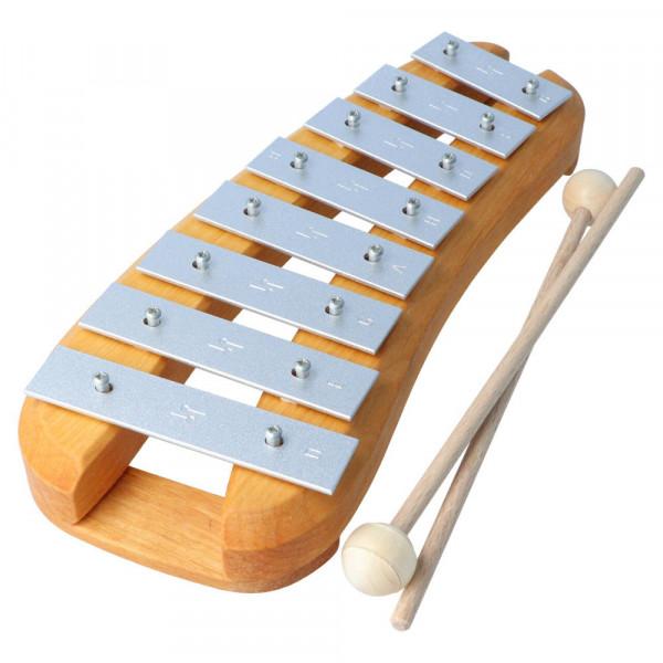 Glockenspiel Erle Natur 8 Töne pentatonisch Decor Spielzeug