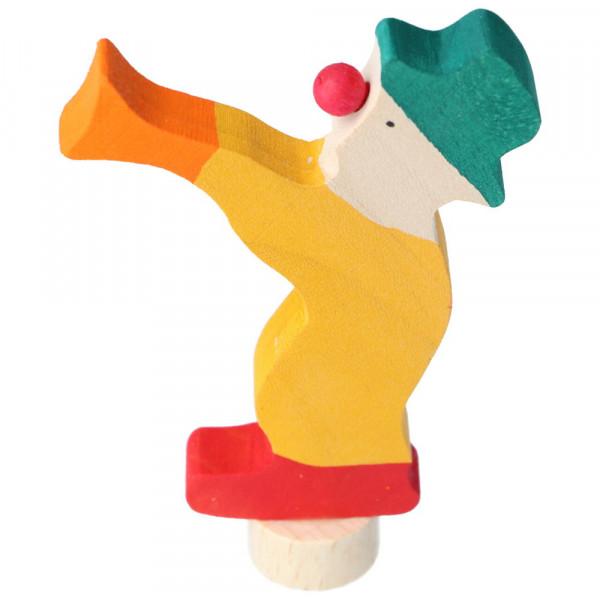 Holz Steckfigur Clown mit Trompete Grimm's