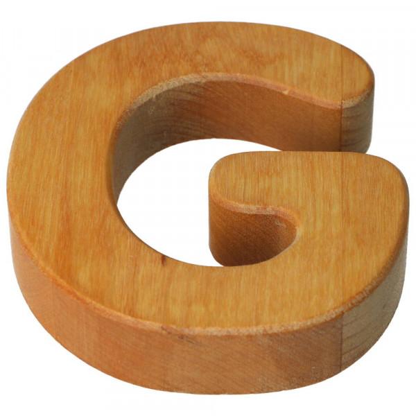 Holzbuchstabe Natur geölt G Bajo