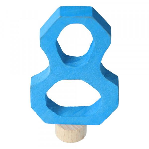 Holz Zahlenstecker 8 Grimm's Blau