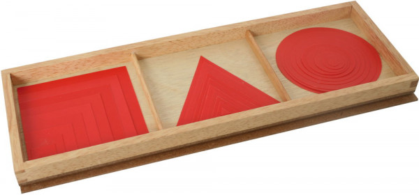 Satz Kreise, Dreiecke und Quadrate Bartl Rot 109644