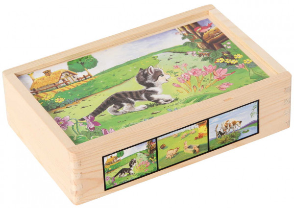 Bilderwürfel Haustiere Bino Box Katze