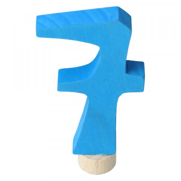 Holz Zahlenstecker 7 Grimm's Blau