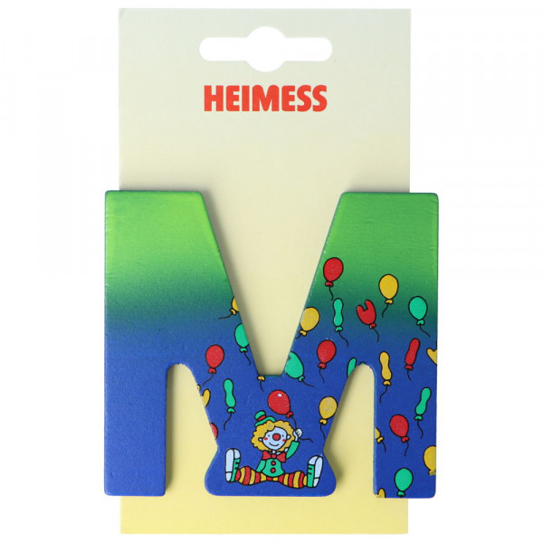 Holzbuchstabe M Heimess Blau