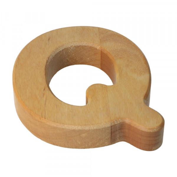 Holzbuchstabe Natur geölt Q Bajo