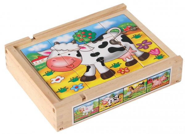 Magnetpuzzle Set Farmtiere Bartl Box Kuh