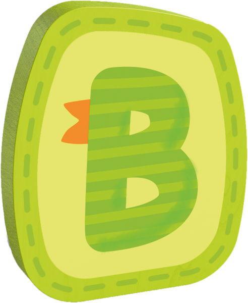 Holzbuchstabe B Haba Grün