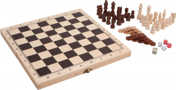 Spieleklassiker 3 in 1 im Holzkoffer small foot Schach