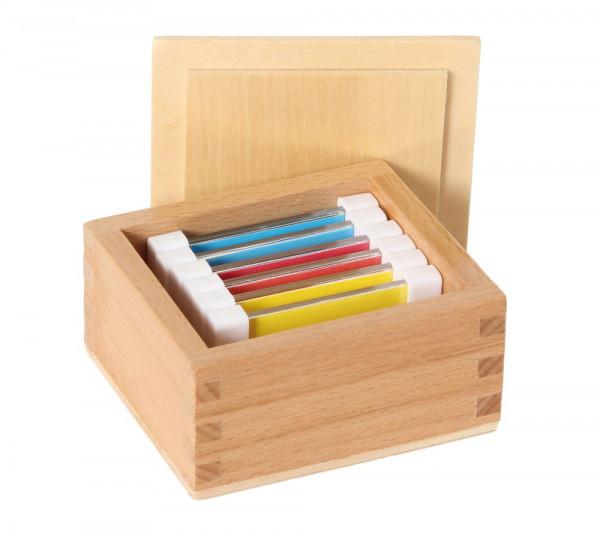 Farbtäfelchen - Holz Kasten mit 6 Stück Bartl 109653