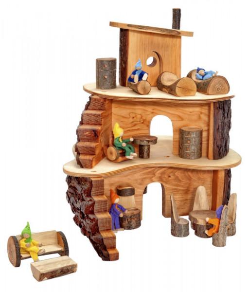 Holz Puppen Baumhaus Klein Magic Wood Beispiel