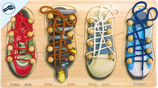 Fädelspiel Schuhe binden small foot